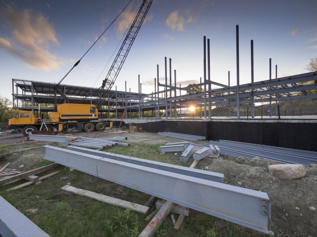 under construction building site